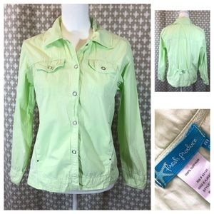 FRESH PRODUCE Mint Green Cotton Jacket Buttons Med